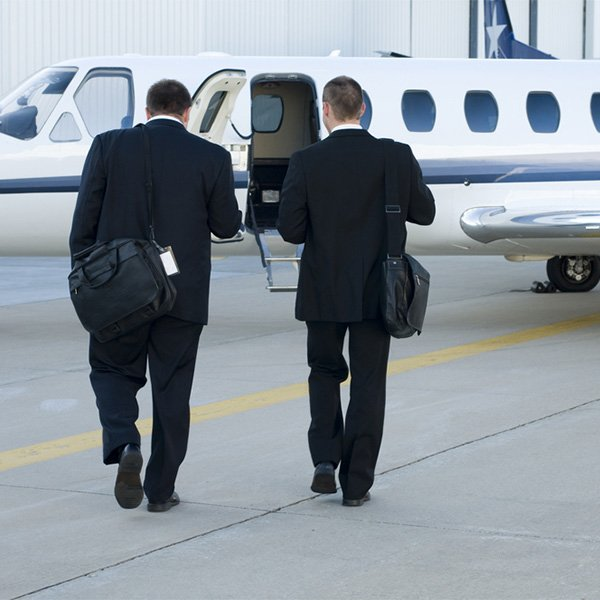 Private jets for business travel